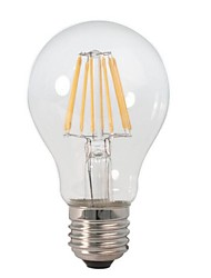 E26/E27 Ampoules Globe LED A60(A19) 8 COB 800 lm Blanc Chaud Décorative AC 100-240 V