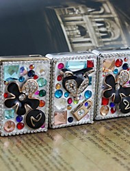 Personalized Engraving Crystal Metal Electronic Lighter Style Random