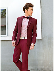 bordeaux Massiv slim fit Smoking in Polyester