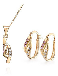 Women's Alloy Jewelry Set Rhinestone
