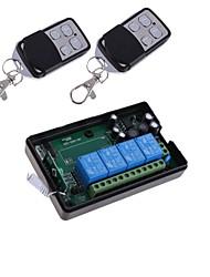 novo receptor de 4 canais ac 220v 4 botões de controle remoto transceptor 315MHz