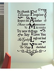 pegatinas de pared Tatuajes de pared, modernas quote famliy pegatinas de pared de pvc.