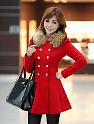 Taylor Women'S Korean Tweed Trench Coat