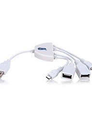 chuan yu H203 2-Port Multifunktions-USB-2.0-Hub android Ladekabel
