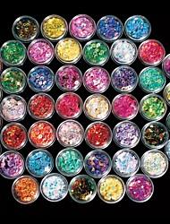 48PCS  Colorfull Mix AB Color Drill Small Circle Bottle Nail Art Decorations
