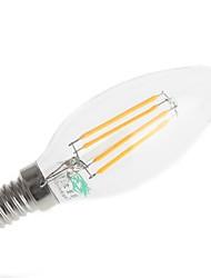 4W E14 LED Filament Bulbs C35 4 380 lm Warm White Decorative AC 220-240 V