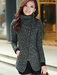 SANFENZISE™ Women's Zipper Bodycon Woolen Cloth Coat
