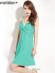 joannekitten® vestido imperio correas cuello torcido atractivo de las mujeres