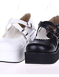 pu cuero zapatos de plataforma 6cm lolita gótica