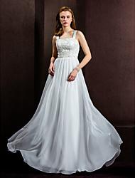 lanting mariée une ligne / princesse petite / tailles plus robe de mariée-parole longueur chiffon carré