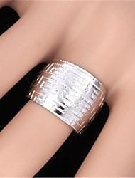 U7® Vintage G Pattern 18K Real Yellow Gold GP Platinum Plated Band Ring