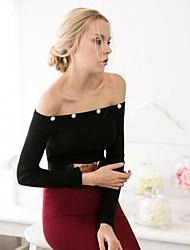 Frauen der Schulter Friesen Pullover elegant