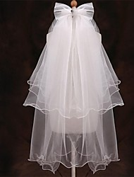 Wedding Veil Five-tier Fingertip Veils Pencil Edge 47.24 in (120cm) Tulle