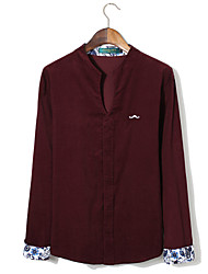 Dark Red Corduroy Solid Shirt