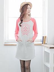 Bearsland Maternit O Neck Print Pattern Casual Long Sleeves Breastfeeding Top Nursing T-shirt Tees
