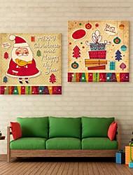 E-Home® Leinwand-Kunst-Weihnachtsdekorationsmalerei Satz 2
