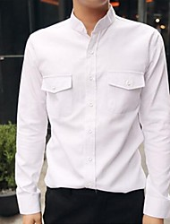 Men's Korean White Collar Leisure Shirt