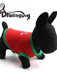 Camiseta para Cães / Gatos Vermelho Primavera/Outono XS / M / L Algodão
