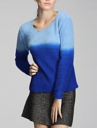 шею кашемировый свитер норки градиент хеджирования женщин