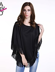 Women's Black Blouse ¾ Sleeve