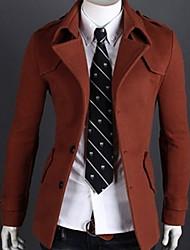 lapela pescoço casaco de tweed térmica dos homens de taxa
