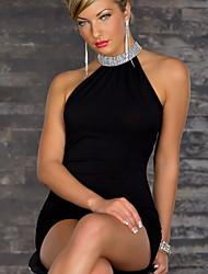 Kamoer Women's Europe sexy games nightclubs uniform suit (tight skirt + T pants) 22