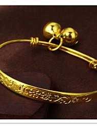 grão fino 24 k chapeamento de ouro e pulseira infantil