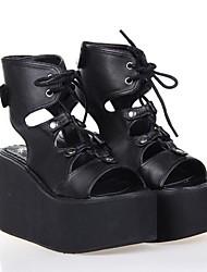 PU 10cm de cuero zapatos del lolita punky plataforma