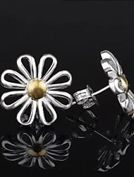 dora Mode lässig Versilberung Chrysantheme earings