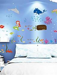 стикеры стены наклейки на стены, подводный мир наклейки стены PVC