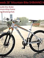 """27 vitesses 26 """"ph vélo de montagne Shimano ™ de frein à disque à huile m370 choquant verrouillage châssis en alliage d'aluminium de fourche"""