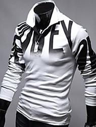 Nicholas   Men's Casual Shirt Collar Long Sleeve T-Shirts