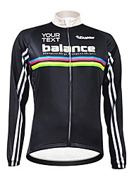KOOPLUS Unisex Customized Spring Autumn Long Sleeve Polyester Cycling Jersey - Black