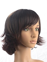 Capless Fashion Short Wavy  Dark Brown Fashional Synthetic Wig