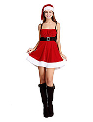Charming Princess Red Polyester Women's Christmas Costume