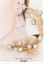 belle alliage avec un seul diamant boucles d'oreille (plus de couleurs)