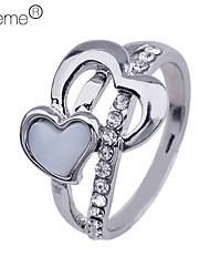 lureme®golden покрытием Rhinestone инкрустированные сплава кольцо (разных цветов)