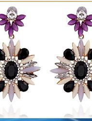 vendas quentes europa ea união ocidental de flores lindo cristal meninas brinco da orelha para casamento ou festa