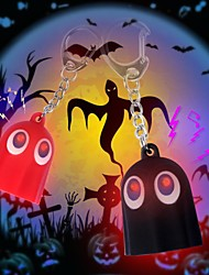 Lovely Ghost LED Sound Keychain(Black&Red)