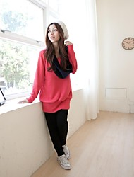 Women's Casual Fashion Collar Maternity Hoddies Breastfeeding Sweater Nursing Jumpers