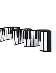 midi usb flexibles rollo de piano de 88 teclas siliconkeyboard electrónico portátil