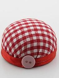 Red Circular Sewing Needle Pin Cushions Sewing Wrist Strap Handmade DIY Tool