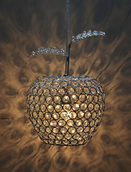 60W Pendant Lights with Crystal Drops in Round
