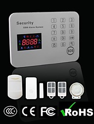 Touch Keypad Color Screen GSM Alarm System