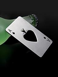 Casino die ein Pik Edelstahl Flaschenöffner 8,5 * 5,5 * 0,19 cm (3,35 * 2,17 * 0,07 inch0