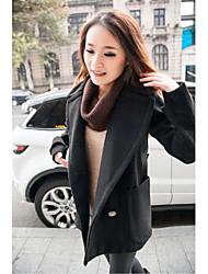 um xuan® moda feminina ficar pescoço casaco de lã