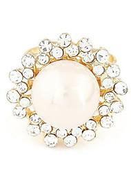 Ladies' Alloy Ring Imitation Pearl/Rhinestone Alloy