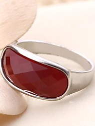 Women's Gemstone Alloy Ring