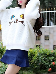 Cocozhou Women's Cute Cat Pattern Down Coat