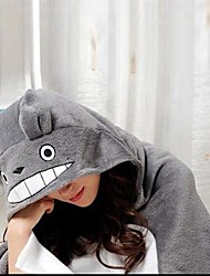 buurman Totoro cartoon grijze coral fleece cosplay shawl